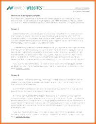 Free Biography Sketch Template Professional Bio Examples