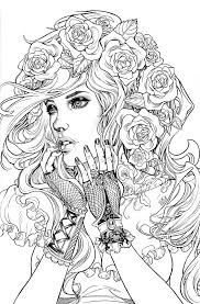 Detailed Mermaid Coloring Pages For Adults At Getdrawingscom Free