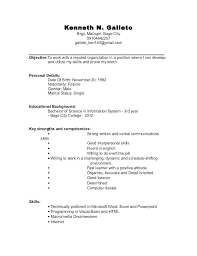 Resume Formats For College Students Sample Resume Template For ...
