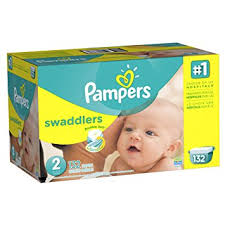 pampers swaddlers size 2 132 count amazon com pampers swaddlers disposable diapers size 2 132 count