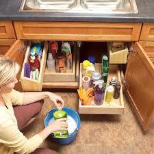 diy storage ideas how to build kitchen storage trays underneath the sink