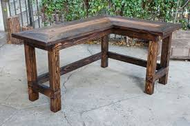 amusing rustic office desk wow this would look great in an office rustic l shaped desk