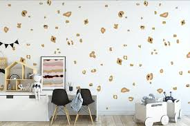 leopard spots removable fabric wall