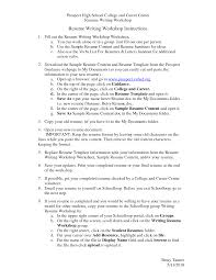 Cover Letter Resume Templates For College Free Resume Templates