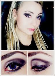 a little bit of rock makeup look