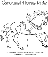 Carousel Horse Coloring Page Crayolacom