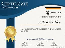 Microsoft Office Training Certificate Ms Office Course 9 Courses Bundle Online Certification