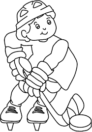 Small Picture Hockey Coloring Sheets Printable Sport Hockey Coloring Pages