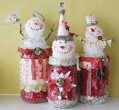 Decorated Jam Jars For Christmas Blankety Blank Blank Snowman Jars 71