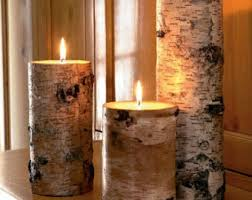White birch candle holders,candle holders,log candle holders,rustic candle  holders,