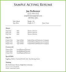 Audition Resume Templates Audition Resume Template Thrifdecorblog Com