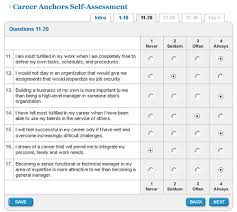 Career Anchors Online Sample Questions