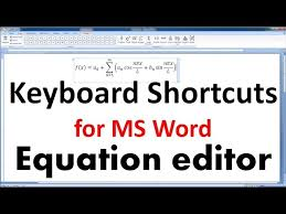how to use ms word equation editor to