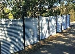 diy metal fence corrugated metal fence design space throughout corrugated metal fencing renovation diy wood framed