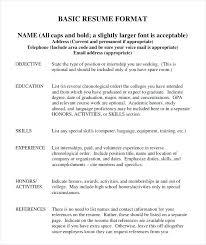 Basic Resume Samples Job Resume Format Net Regarding Basic Resume ...