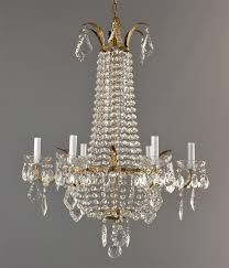 marie antoinette brass crystal chandelier c1930 antique french vintage ornate gold