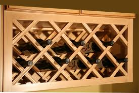 Wine Racks For Cabinets Lattice Wine Rack Kitchen Cabinet Kitchen