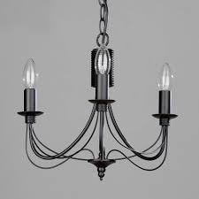 curced design black metal chandelier