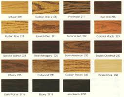 Floor Stain Color Chart Wood Stain Colors On Oak Wood Stain Choices Wood Floor Stain