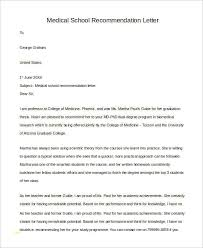 Awesome Medical School Letter Of Recommendation Template Best