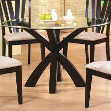 round dining table base coaster shoemaker crossing pedestal dining table with glass top in cappuccino round round dining table base