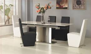 white and black dining room sets. Wonderful Extendable Dining Table For Room Decoration : Magnificent Black And White Sets