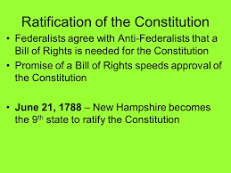 「New Hampshire becomes the ninth and last state necessary to approve the document, making it the law of the land.」の画像検索結果