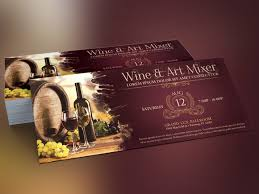 Vintage Wine Art Mixer Flyer Template | Graphicstank