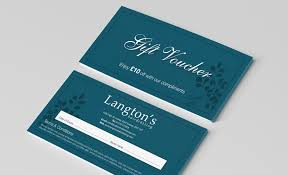 Personalised Gift Vouchers Templates Voucher Printing And Design Uk Face Media Group