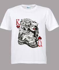 Queen Of Hearts T Shirt Design King Queen Of Hearts Tattoo Sugar Skull Poker Playing Card White Tshirt S 3xl Coolest T Shirt Shirts With Designs From Twofulcup 16 24 Dhgate Com