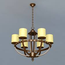 highly detailed 3d model of bronze 6 light chandelier light fixture available 3d file format max autodesk 3ds max free this 3d objects and put
