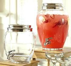 glass iced tea dispenser sol 3 gallon beverage round inside drink with metal spigot ideas 14
