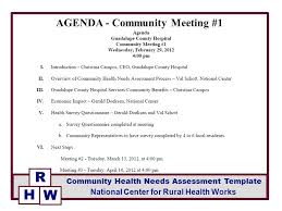 Agenda Meeting Example Mesmerizing AGENDA Community Meeting 48 Ppt Video Online Download
