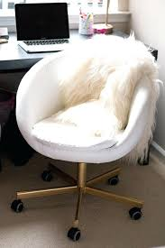 white leather office chair ikea. Delighful Ikea White Round Desk Chair Gold Office Ikea Within  Plan  To Leather
