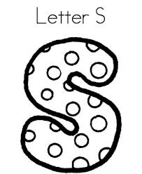 letter s dots alphabet coloring page