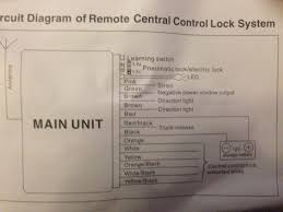 help remote central locking kit installation wiring guru s am i right to think the oe central locking is negative trigger