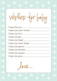 Wishes For Baby Template Freebie Wish Cards Nyla Jouett Ideas Pinterest Baby Shower