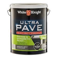 White Knight Paving Paint Colour Chart White Knight Ultra Pave Heavy Duty Medium Grey 4l