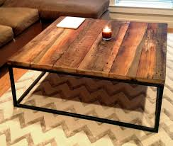 large square coffee table with