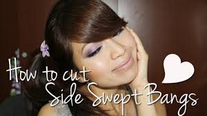 how to cut side swept bangs fringe