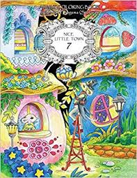 Nice Little Town Adult Coloring Book Stress Relieving Coloring