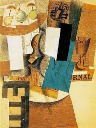 Example Of A Collage Cubist Artist Pablo Picasso The Inventor Of Collage Art