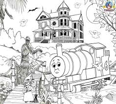 Small Picture Halloween Thomas The Train Coloring Pages Coloring Pages