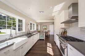 White Galley Kitchen Designs