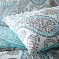pieridae paisley duvet quilt bedding cover and pillowcase teal bedding