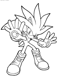 super sonic and shadow silver coloring pages az at glum me