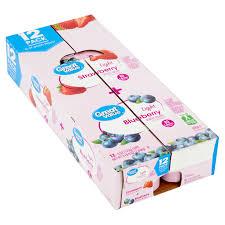 Great Value Light Vanilla Greek Yogurt Nutrition Facts Great Value Light Strawberry Blueberry Nonfat Yogurt 6 Oz