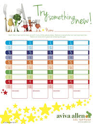 Try New Food Chart Encourage Your Kids To Try New Foods With Colourful Reward