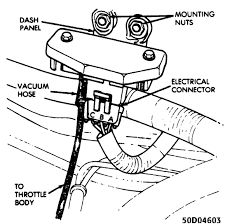 The map sensor is mounted under the hood on the firewall and is connected to the throttle body with a vacuum hose see fig 4