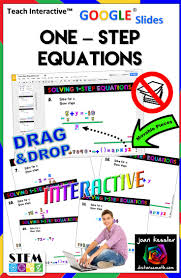 algebra one step equations interactive with google slides drag drop